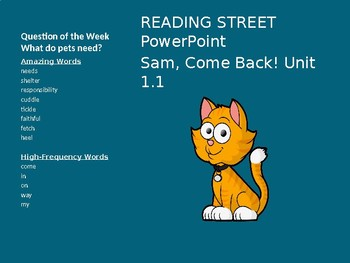 READING STREET PowerPoint Sam, Come Back! Unit 1.1