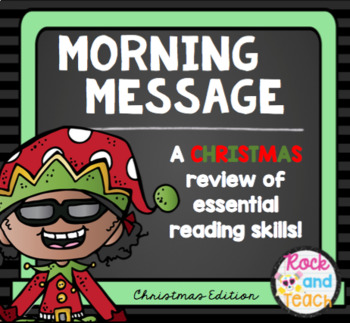 READING TEST PREP: Morning Message Christmas Edition