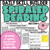 Reading Morning Work Spiraled Review: Edition 4