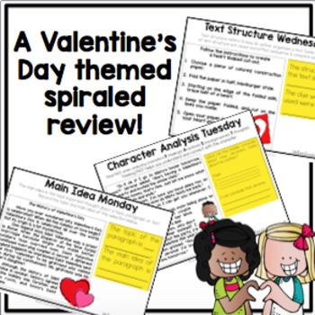 READING TEST PREP: Morning Message Valentine's Day Edition