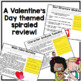 Reading Morning Work Spiraled Review: Valentine's Day Edition