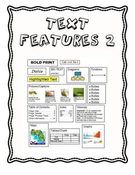READING TEST PREP - Text Features