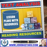 READING FOR TEXT ANALYSIS LESSONS AND RESOURCES BUNDLE