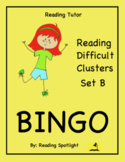 Difficult Vowel Teams & Consonant Clusters Bingo Set B (RT)