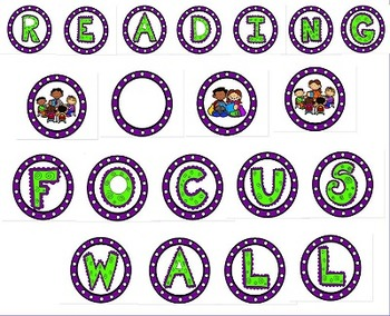 READING POSTERS COLORFUL PURPLE GREEN and WHITE THEME