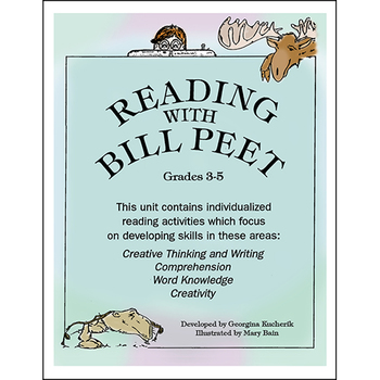 READING WITH BILL PEET (INDIVIDUALIZED ACT. FOR 26 BOOKS) Gr. 3-5