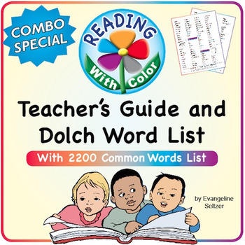 READING WITH COLOR: Teacher's Guide & 2200 Common Words Wi