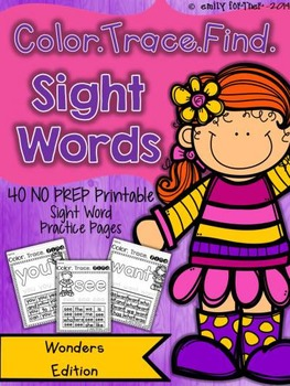 WONDERS Color Trace Find Sight Word Printables