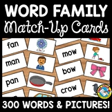 READING WORD FAMILY CARDS (WORD TO PICTURES MATCH UP ACTIV