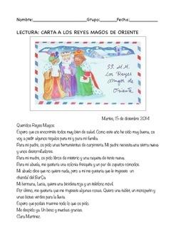 SPANISH READING & WRITING: CARTA A LOS REYES MAGOS