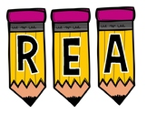 READING & WRITING PENCIL BANNERS
