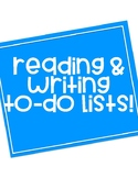 READING & WRITING TO-DO LISTS!