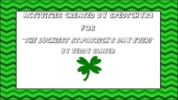 March Activities for Luckiest St.Patrick's Day Ever PRINT and GO