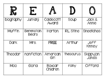 READO Library Skills Bingo Game