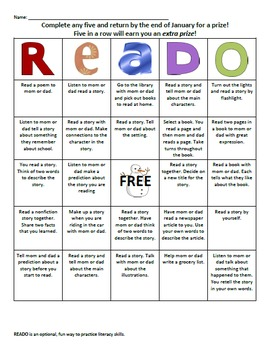 READO Bundle: Literacy and Reading bingo style game for at home fun