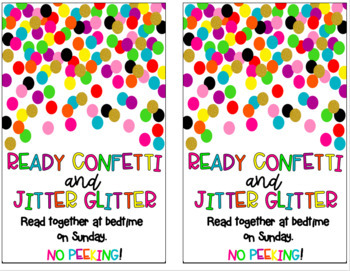 READY CONFETTI & JITTER GLITTER Back to School Gift