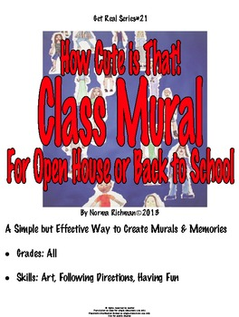READY FOR OPEN HOUSE, BACK TO SCHOOL? CUTE, EASY CLASS MURAL ART LESSON