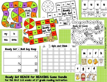 1st Grade READY, SET...National Geographic REACH FOR READING MEGA Game Bundle