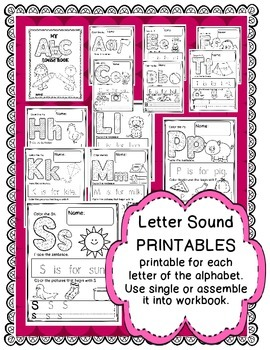 LETTER SOUNDS {NO-PREP} PRINTABLES