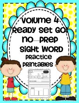 SIGHT WORDS - VOL. 4 { NO PREP } PRINTABLES