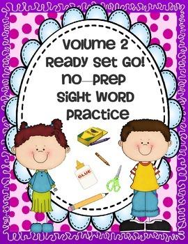 SIGHT WORDS - VOL. 2 { NO PREP } PRINTABLES