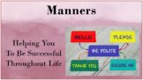 READY 2 USE Table & General Good Manners Social-emotional Learn Lesson w 4 video