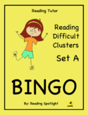 Difficult Vowel Teams & Consonant Clusters Bingo Set A (RT)
