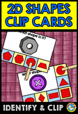 REAL LIFE 2D SHAPES ACTIVITY (KINDERGARTEN GEOMETRY CLIP CARDS)