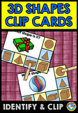 REAL LIFE 3D SHAPES CENTER (KINDERGARTEN GEOMETRY CLIP CARDS)