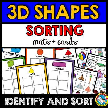 REAL LIFE 3D SHAPES SORTING ACTIVITY (MATS + CARDS) SHAPES KINDERGARTEN CENTER