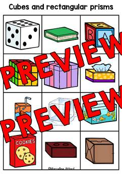 REAL LIFE 3D SHAPES SORTING ACTIVITY (MATS AND CARDS) SHAPES KINDERGARTEN CENTER