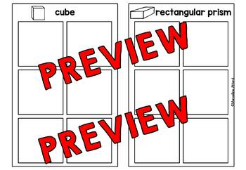 REAL LIFE 3D SHAPES SORTING WORKSHEETS (KINDERGARTEN CUT AND PASTE ACTIVITIES)