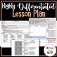 REAL Lesson Plan EXAMPLE for Highlighting Differentiation