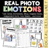 REAL PHOTO Emotions Social Skills Unit (sped/autism/middle/high school)