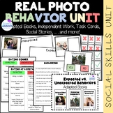 REAL PHOTO Expected vs. Unexpected Behavior Unit (sped/autism/middle/highschool)