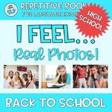 REAL PHOTOS Adapted Book I Feel Emotion Vocabulary TEENS Life Skills BACK SCHOOL