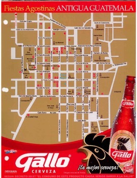 Realia Antigua Guatemala Street Map For Giving Directions