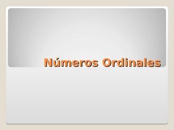 REALIDADES 1. 2A. NUMEROS ORDINALES.