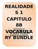 REALIDADES 1. 8B. VOCABULARY BUNDLE. VOCABULARIO.