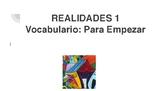 REALIDADES 1 Para Empezar- 94-slides-Vocabulario