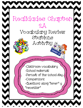 REALIDADES 2A Vocabulary Review Station Activity