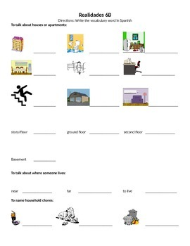 REALIDADES 6B PRACTICE PACKET REVIEW PRESENT PROGRESSIVE A