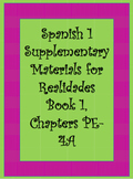 Realidades Supplementary Material for Chapters PE-4A of Book 1.