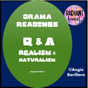 REALISM AND NATURALISM; LATE 19TH CENTURY THEATRE READING + Q & A