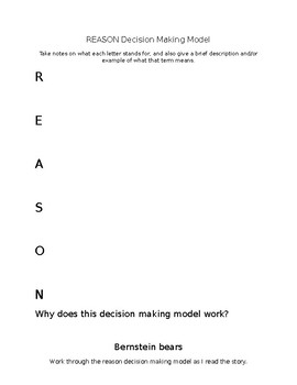 REASON Decision Making Model Note Guide