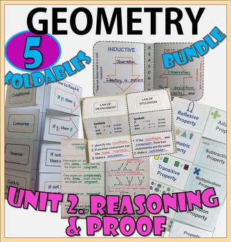 REASONING AND PROOF. UNIT 2. GEOMETRY Foldables Bundle
