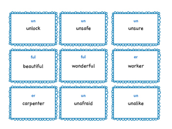 REBOOT Multi Syllable game with prefix suffix practice for RTI / small group