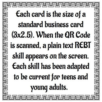 REBT Reminders: QR Code Coping Cards