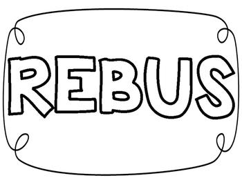 REBUS reading sign
