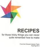 RECIPE BOOK for Craft Activities